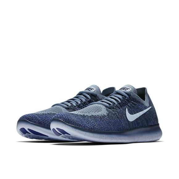 15445bf68ccb NIKE 🆕 Free RN Flyknit Running Gym Shoe Blue NWOT.  M 5bf5776534a4efd2399ea22a